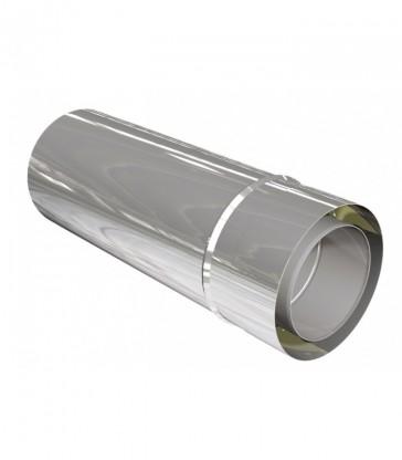 élément de cheminée inox L540mm recoupable ép. 0,6mm isolé 25mm