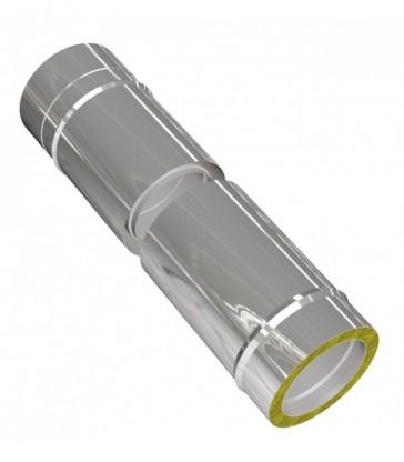 Elément coulissant 330-420mm cheminée inox L360mm isolé 25mm