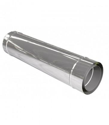 cheminée inox L1080mm ép. 0,6mm double paroi isolé 25mm