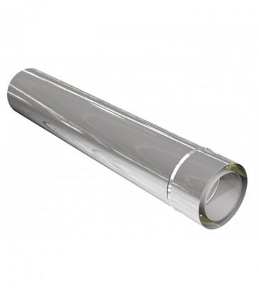 élément de cheminée inox L1080mm recoupable ép.0,6mm isolé 25mm