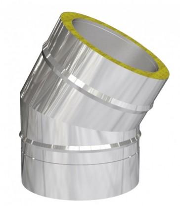 Coude 30° pour cheminée inox double paroi isolé 25 mm