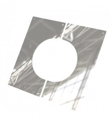 Plaque de finition en 2 parties sous toit plat