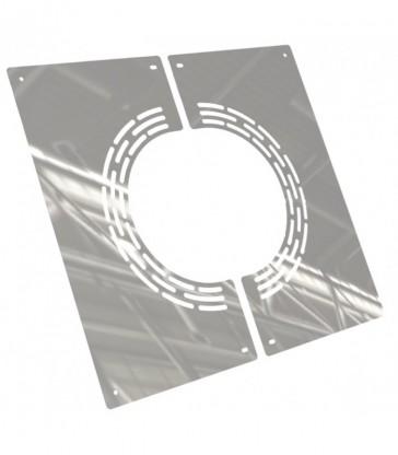 Plaque de finition aérée  en 2 parties sous toit ou plafond 45°