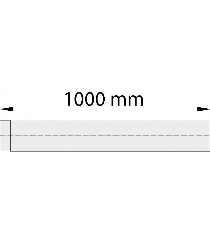 Tube suppl 1000 mm Noir