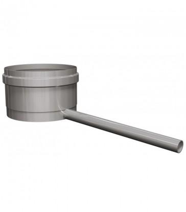 pot de condensation avec écoulement latéral des condensats