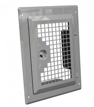 porte acier inox avec grille d'aération