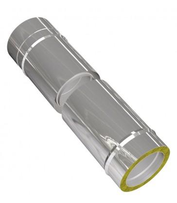 Elément coulissant 420-620mm cheminée inox L360mm isolé 25mm