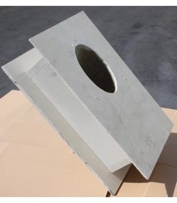 Traversée de toiture isolée Pente 45° épaisseur de 300mm