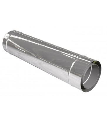 Conduit de fumée double paroi diam 150mm Long 1m isolé 25mm