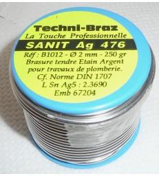 Soudure etain Argent bobine 250 gr. Diam. 2mm