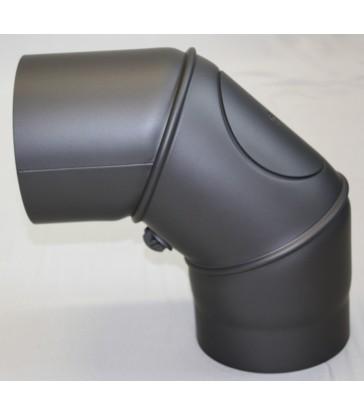 Coude 45° Réglable Trappe Visite acier Noir 2mm